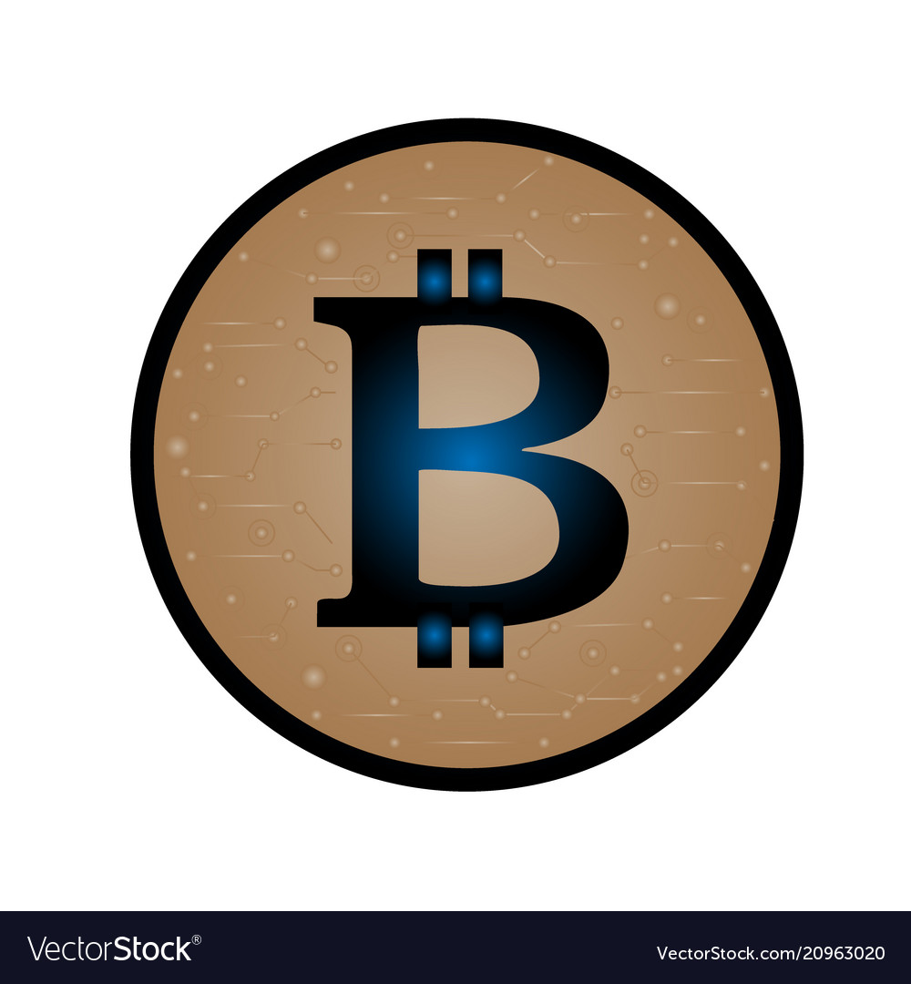 Coin with bitcoin sign money and finance symbol