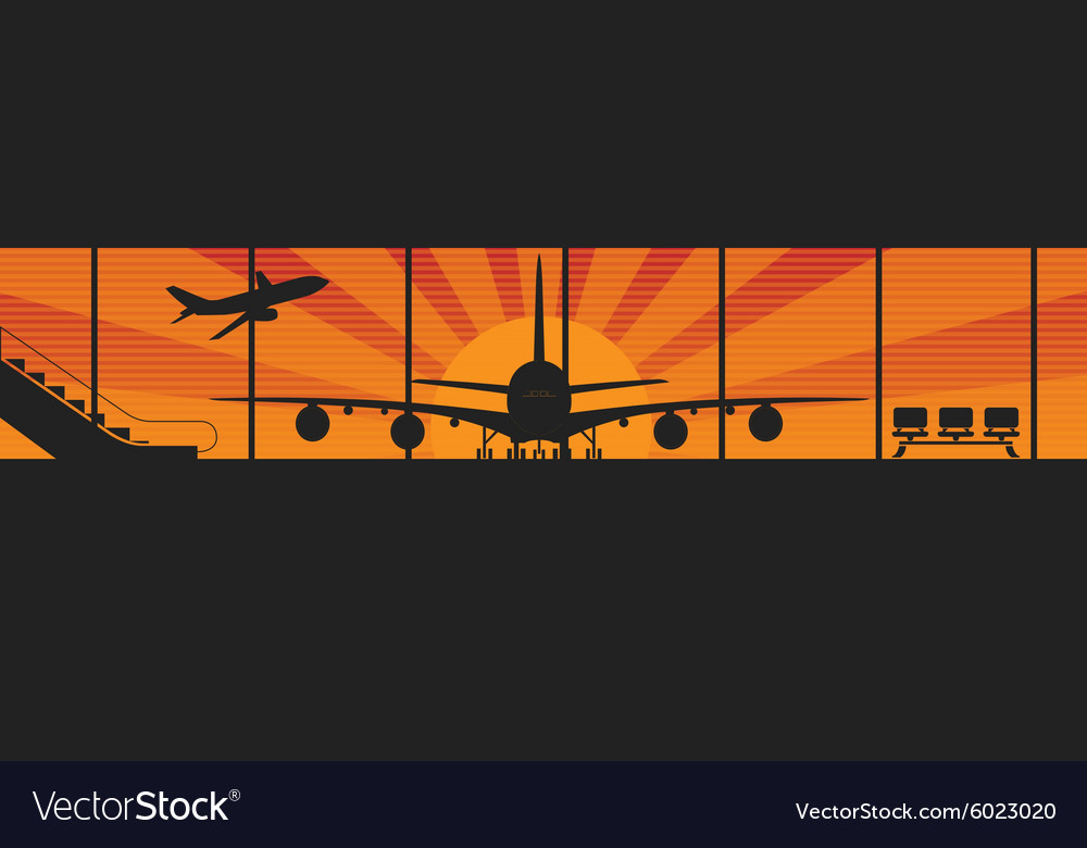 Flying airplanes banners for your text Retro