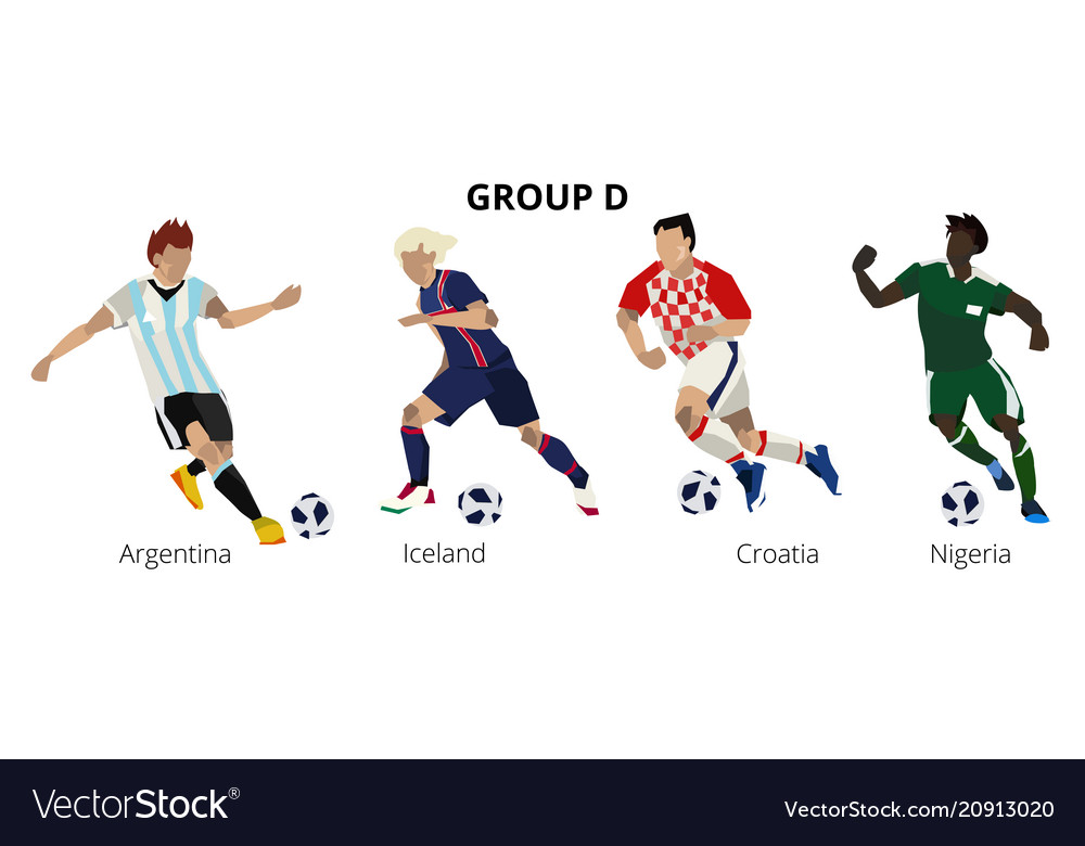 Football soccer players group