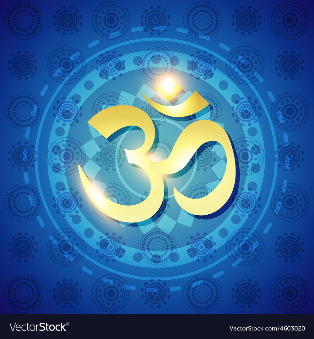 Hindu om text vector image