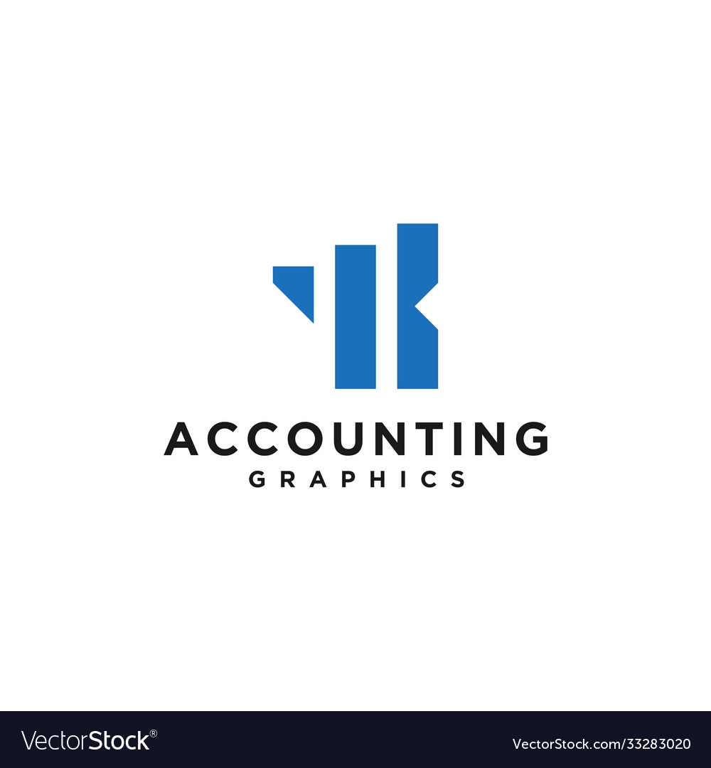 Initials abstract graphic financial logo design