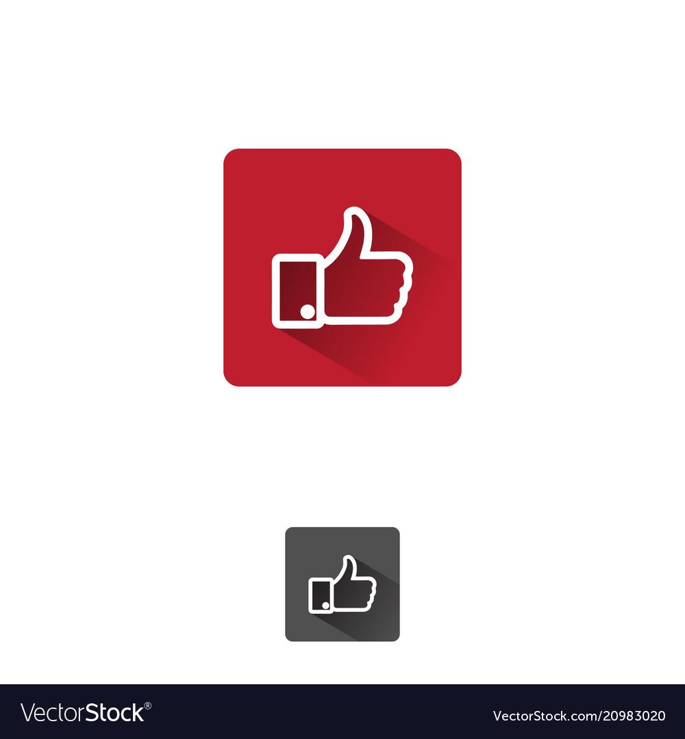 Like app icon vector image