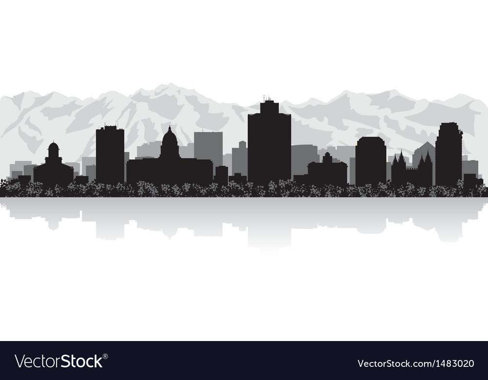 Salt Lake city USA skyline silhouette