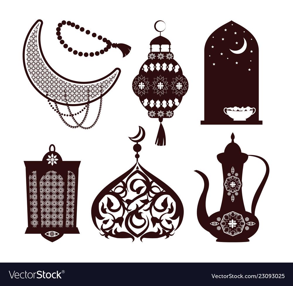 Arabian culture concepts set