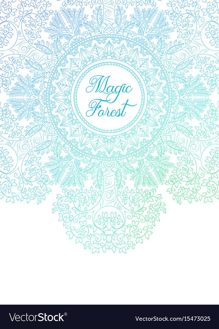 Colorful Zentangle Mandala Banner Template Vector Image