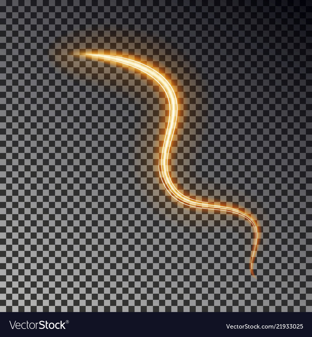 Glowing light line isolated on dark background ab