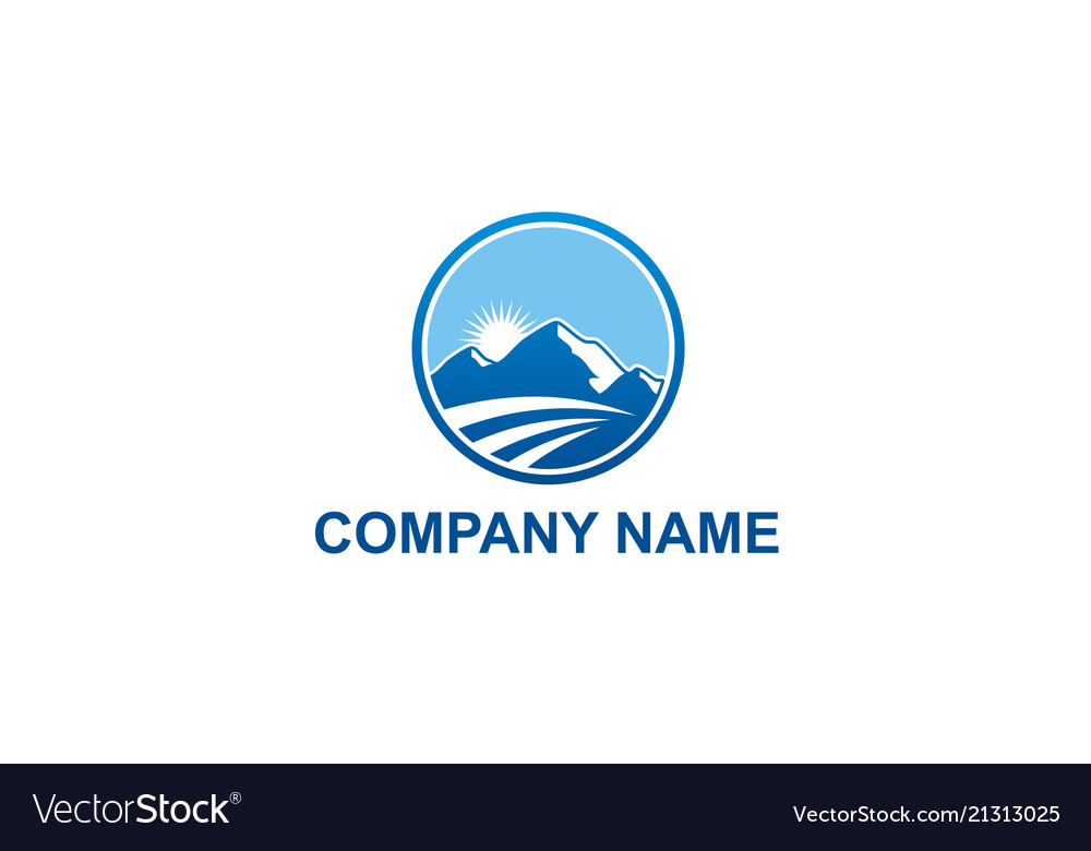 High mountain travel nature company logo