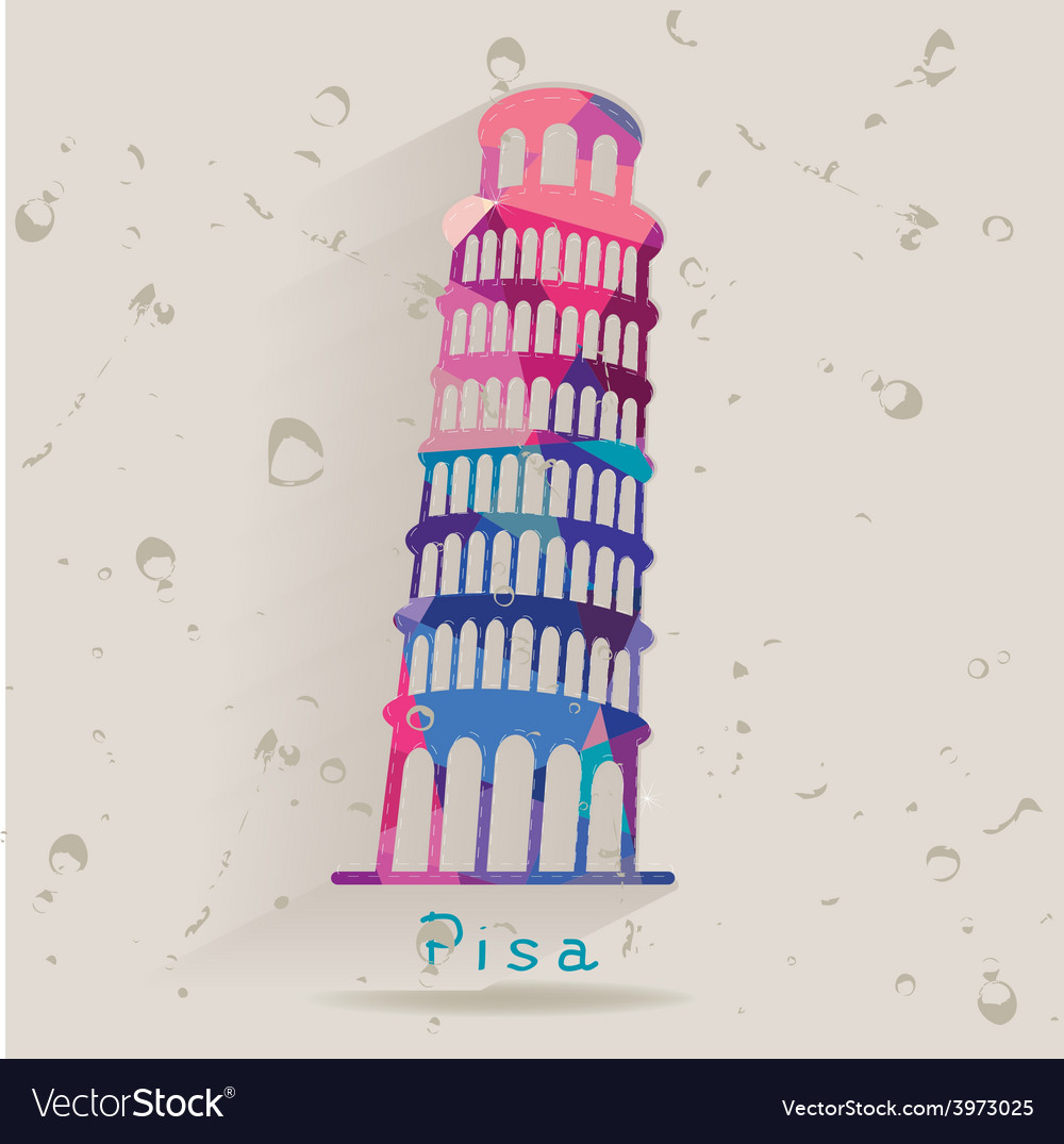 Leaning Tower of Pisa made of triangles