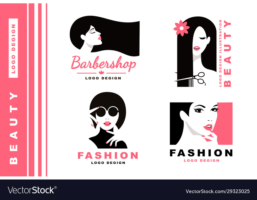 Logo collection cosmetics and fashion