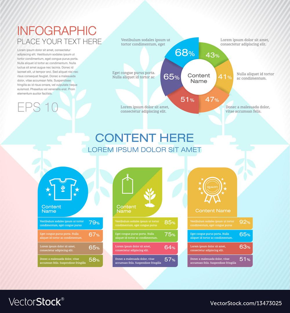 Modern graph design or infographic design