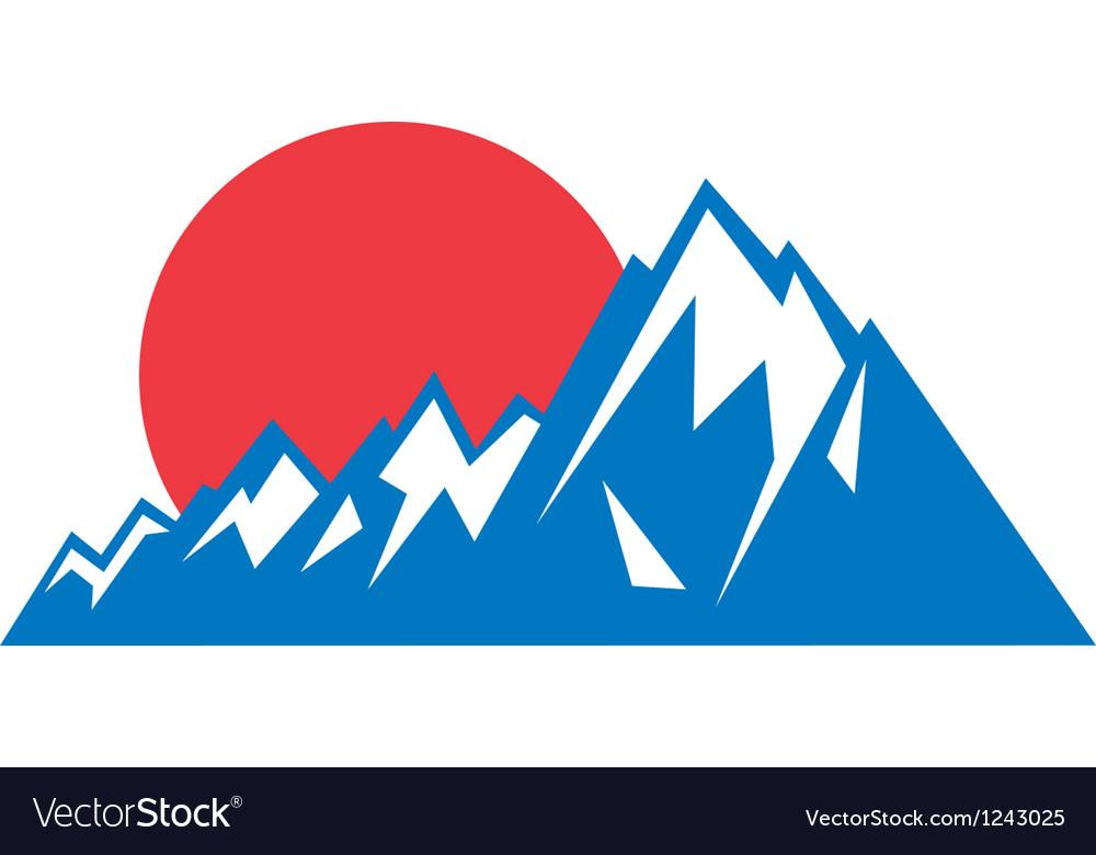 Mountain range logo vector image