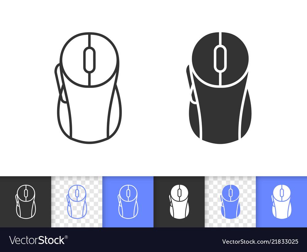 Pc mouse simple black line icon