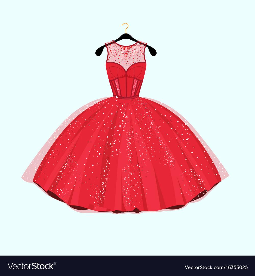 Red long dress