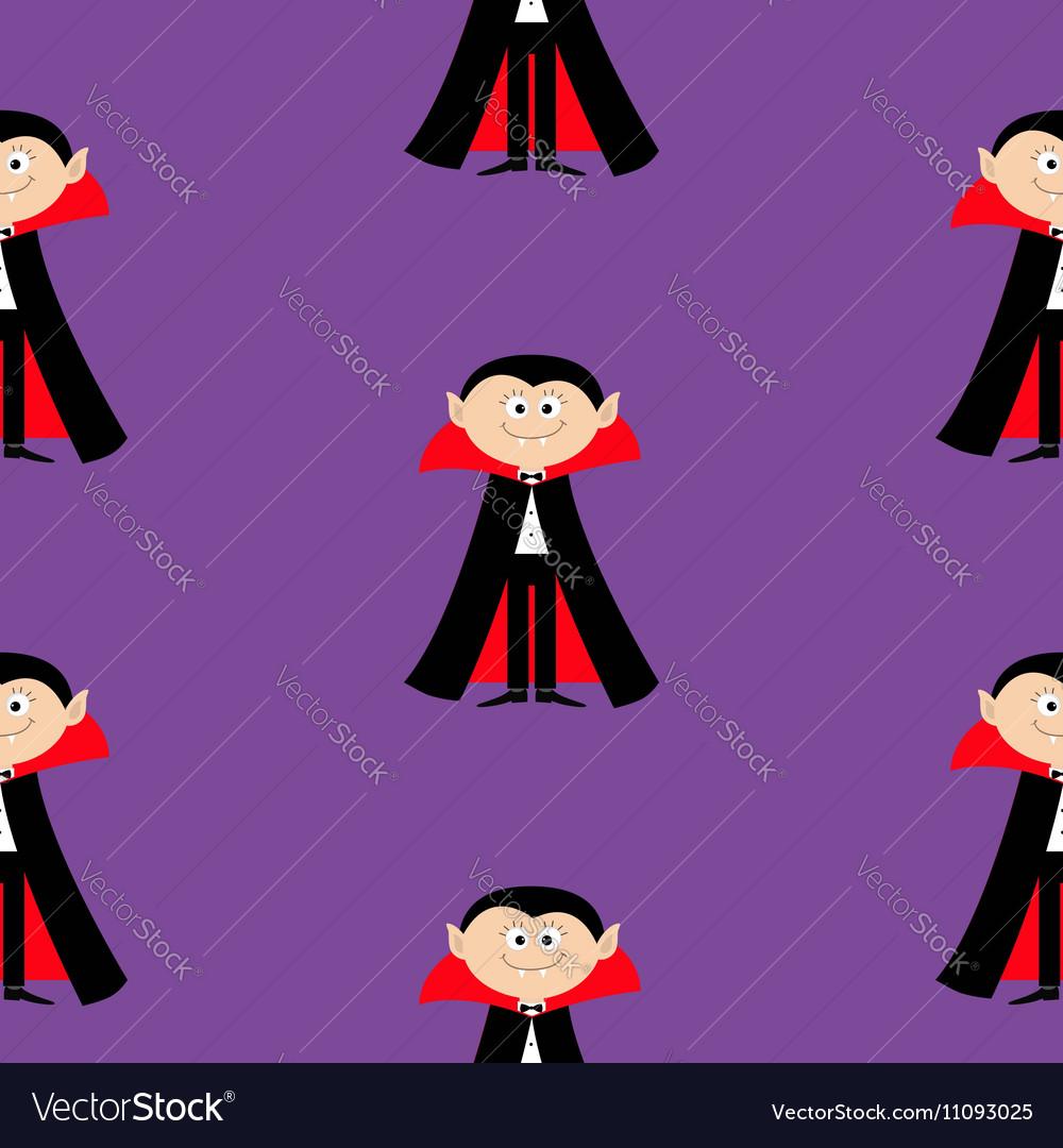 Seamless Pattern Count Dracula Cute cartoon