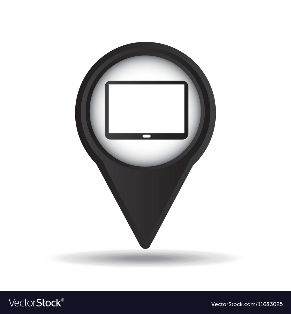 Tablet device map pin icon