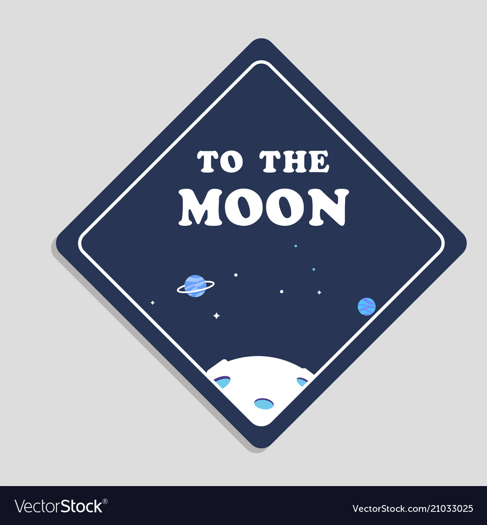 To the moon space background image