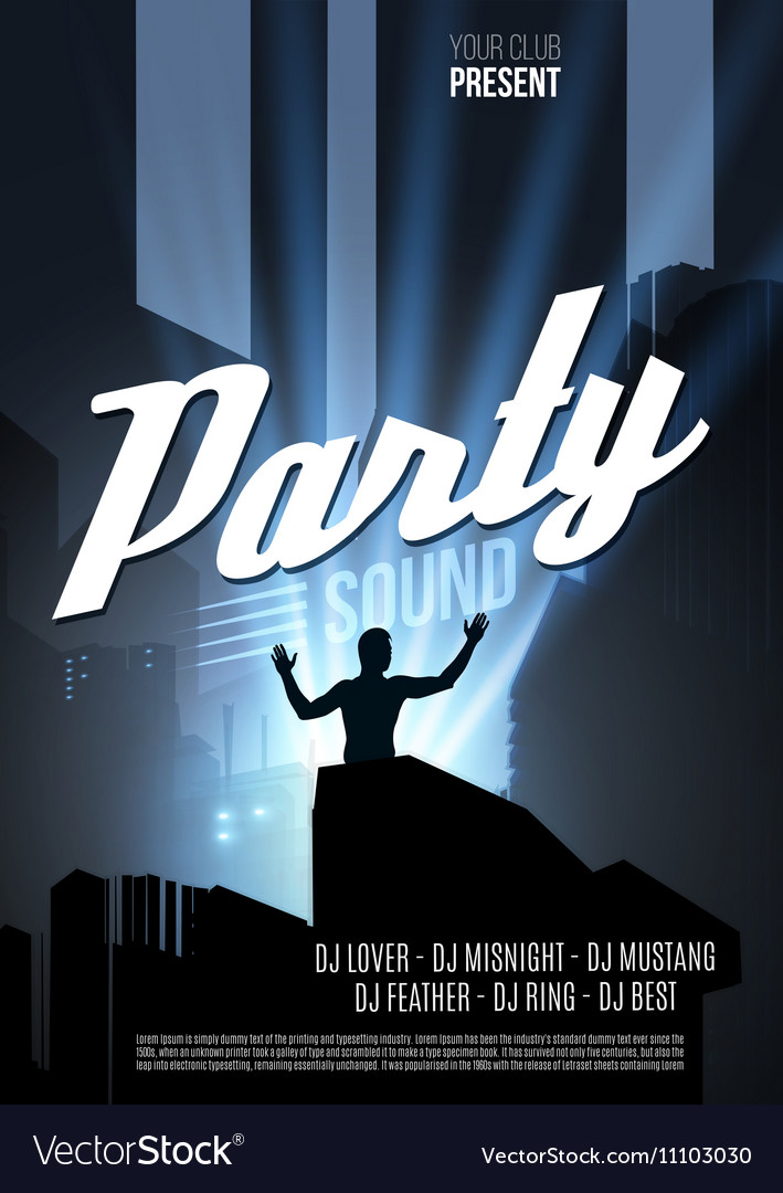 Abstract Night Party Template