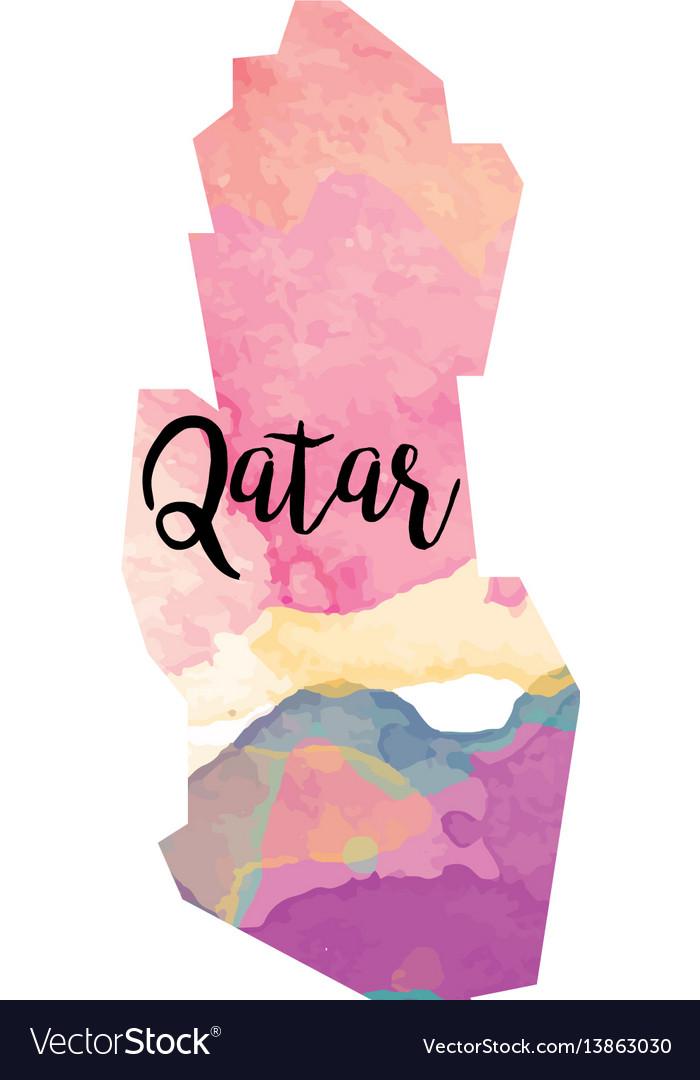 Abstract qatar map