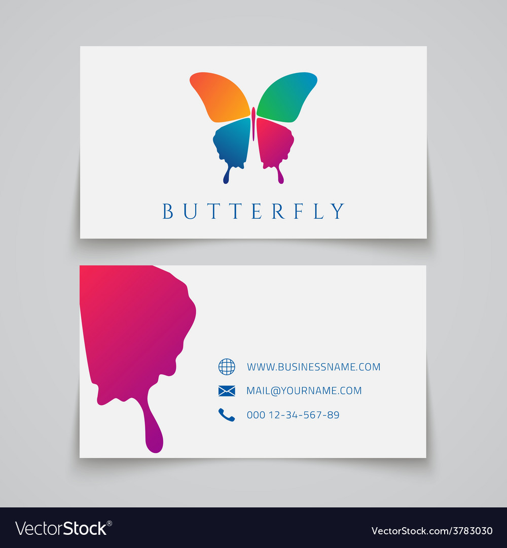 Bussiness card template Butterfly logo