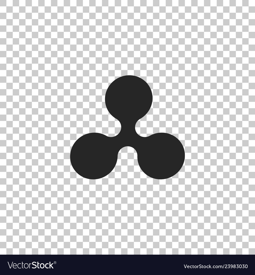 Cryptocurrency coin ripple xrp icon isolated