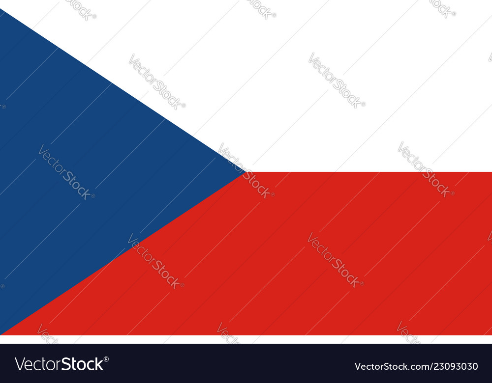Flag of czech in official rate and colors