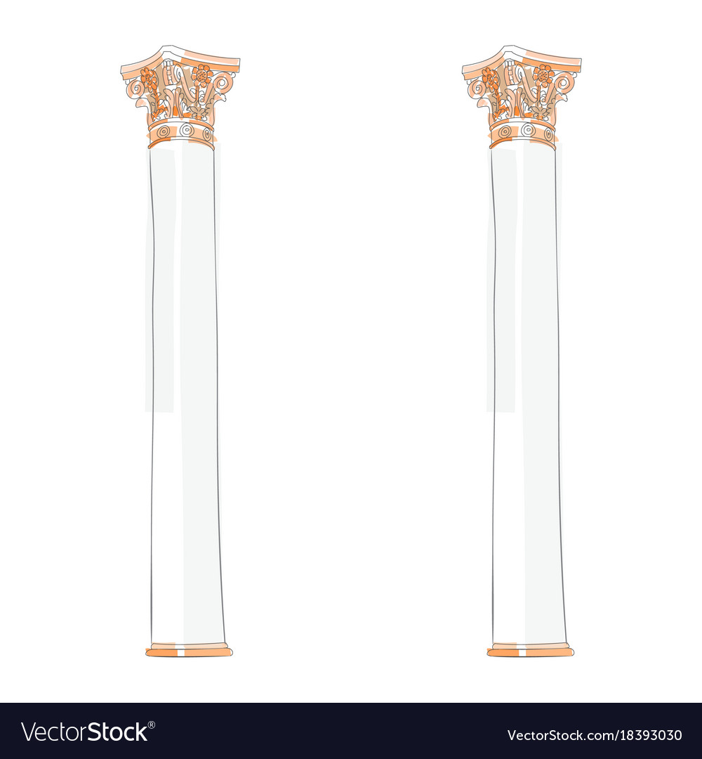 Greek doodle doric ionic corinthian columns