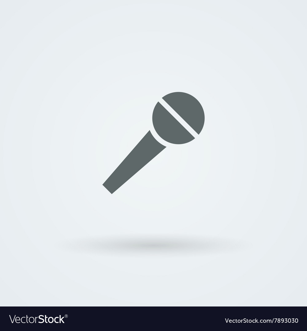 Microphone Icon Simple Pictogram