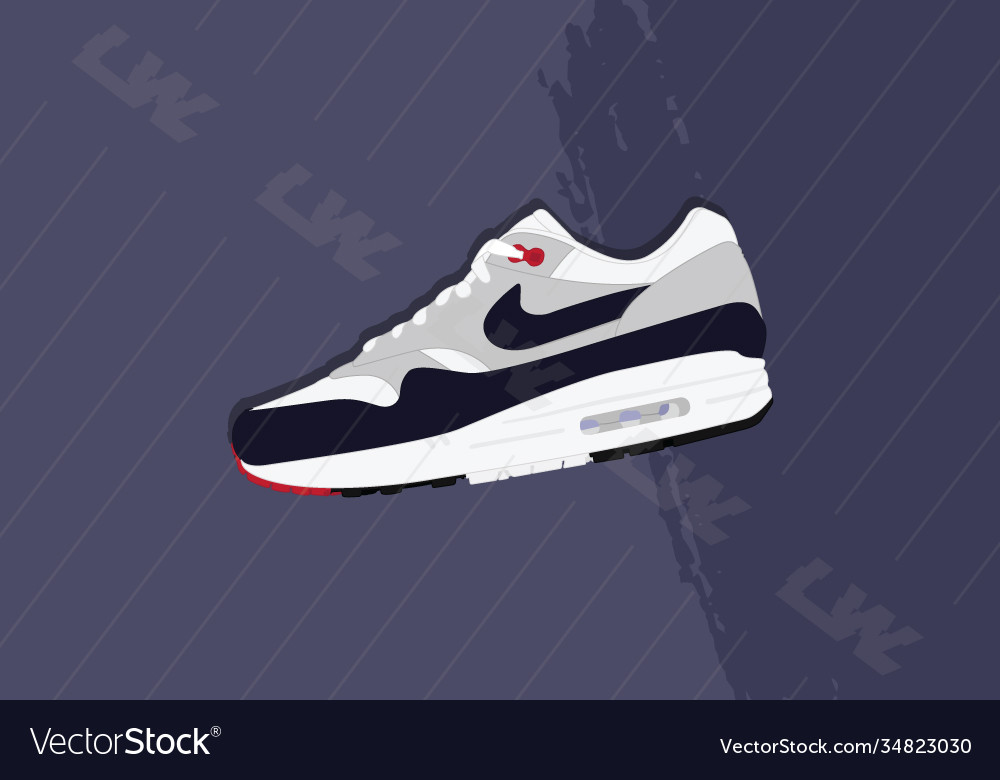 Nike air max 1 og obsidian Royalty Free Vector Image