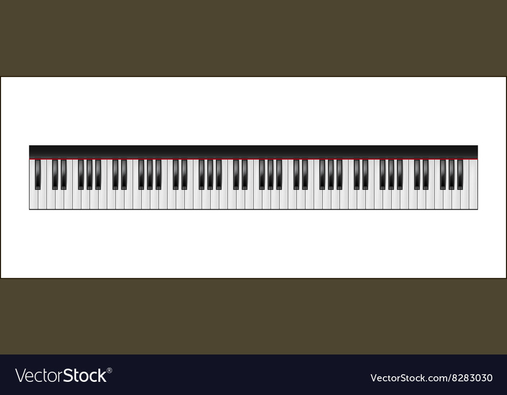 Piano keyboard 88 keys isolated
