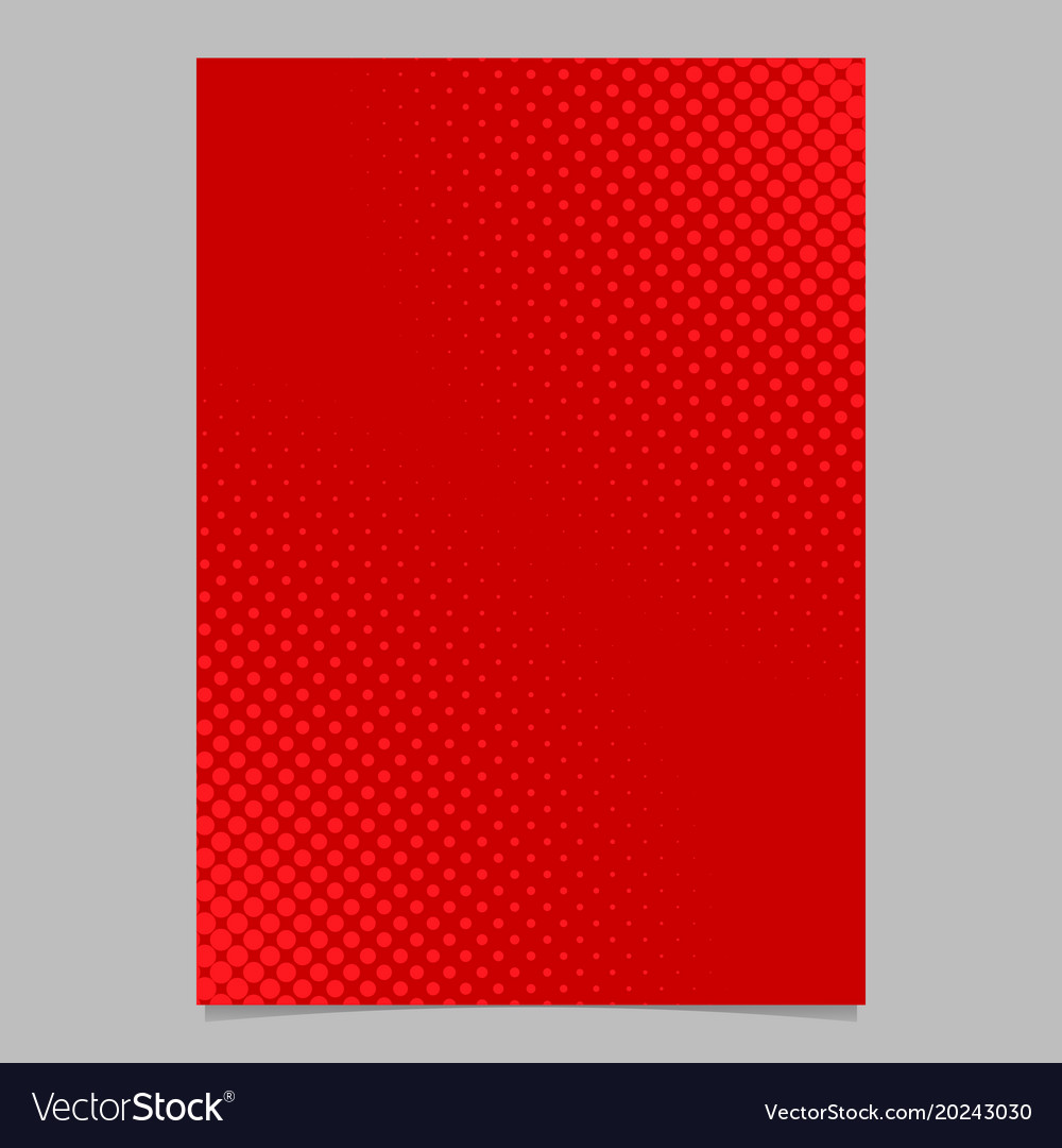 Red halftone dot pattern flyer template