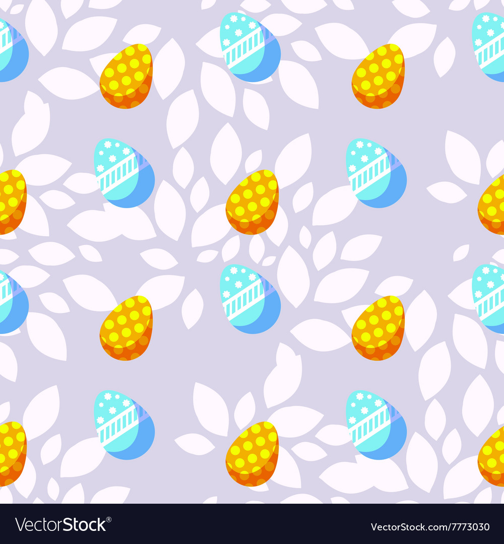 Seamless background with bright easter eggs