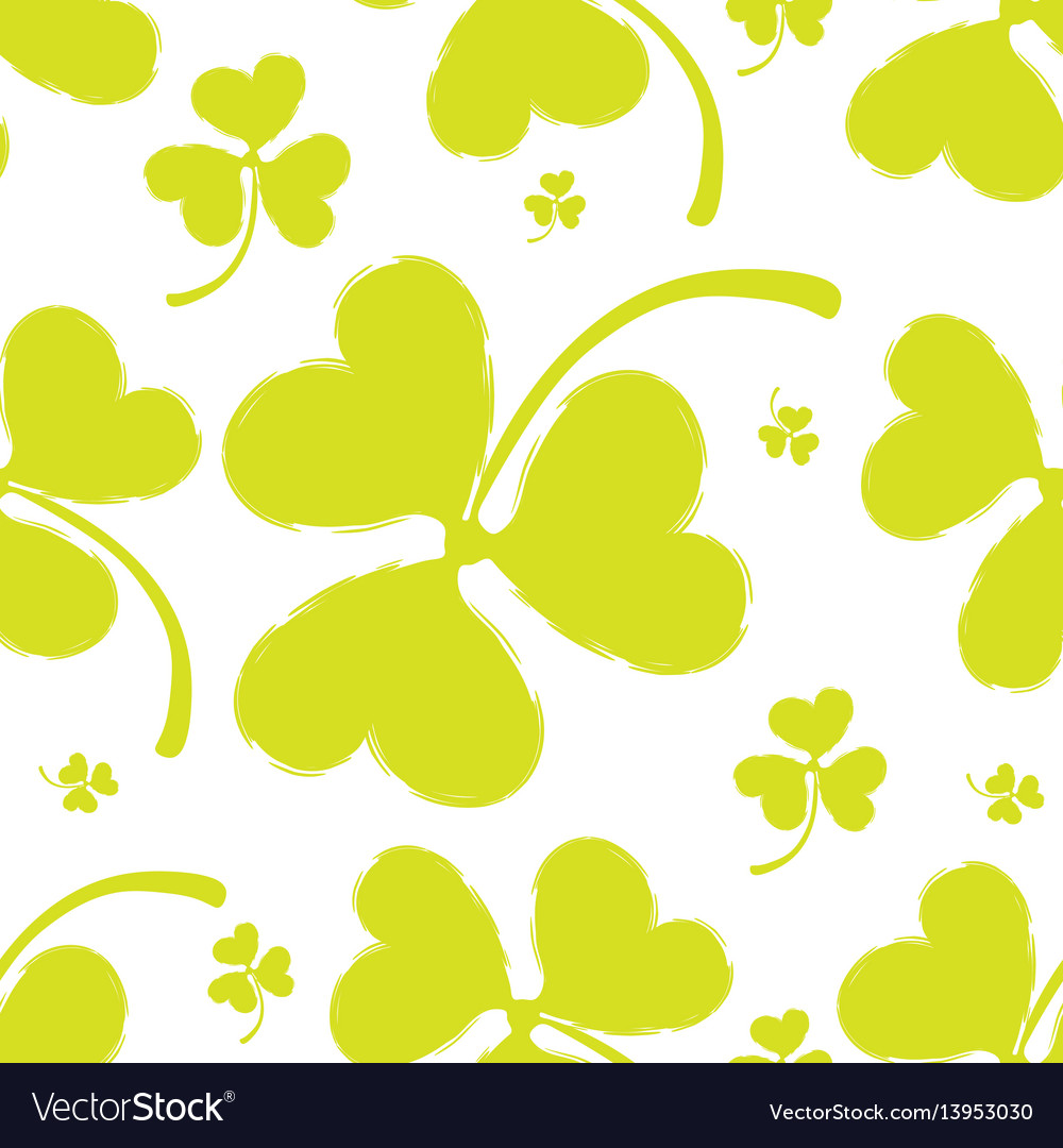 Spring pattern with green clover