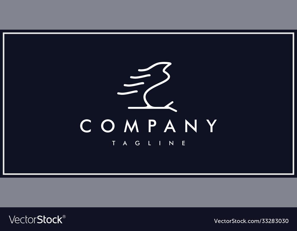Unique silhouette free bird logo line