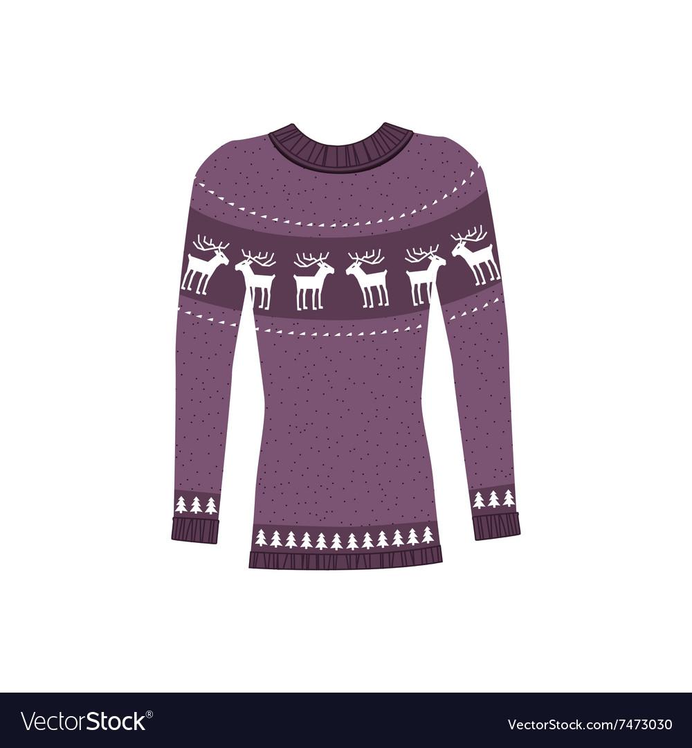 9d120aabe7cc68 Winter Warm Sweater Handmade Svitshot Jumper Vector Image