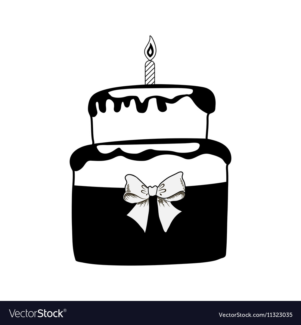 Strange Birthday Black Cake On White Background Royalty Free Vector Funny Birthday Cards Online Alyptdamsfinfo