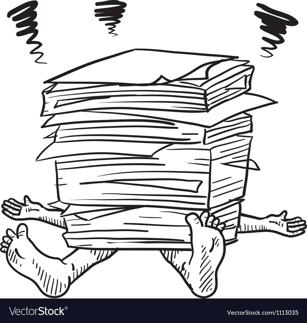 Doodle squash paper stack