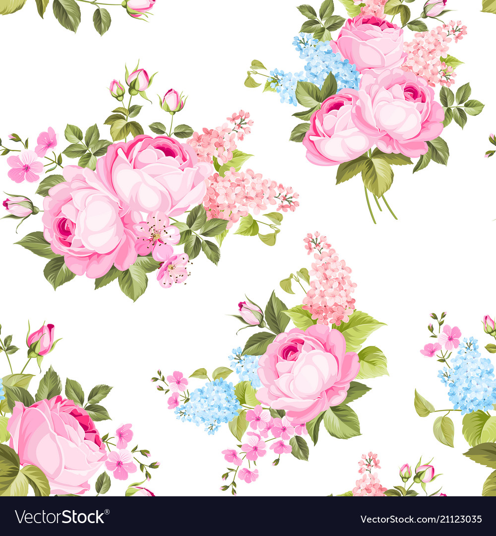 Elegant seamless rose pattern