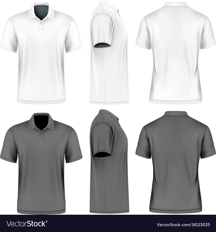 Mens short sleeve polo shirt Royalty Free Vector Image 8d3d9485a