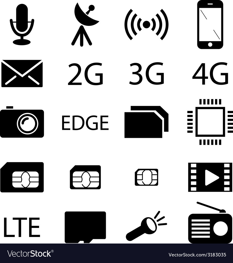 Mobile phone specification icon collection