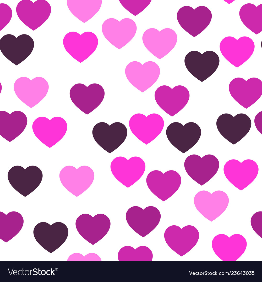 Pink hearts seamless pattern random scattered