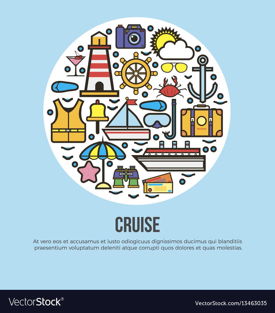 Sea cruise travel or summer ocean vacation