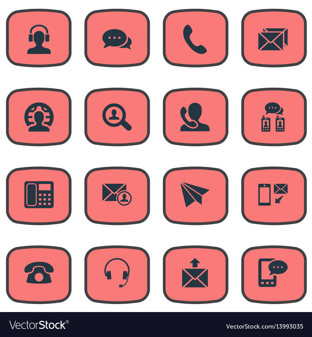 Set of simple connect icons
