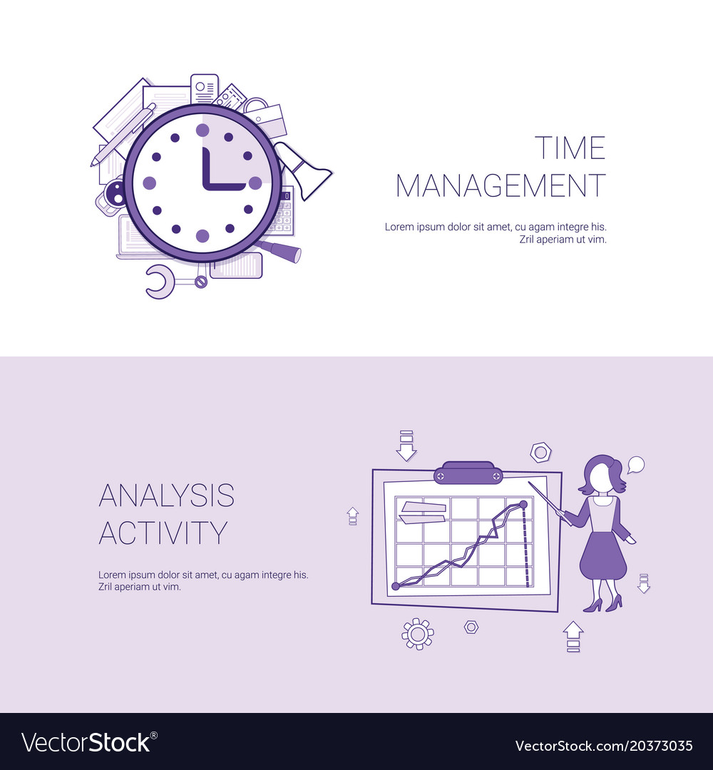 Time management and analysis activity concept