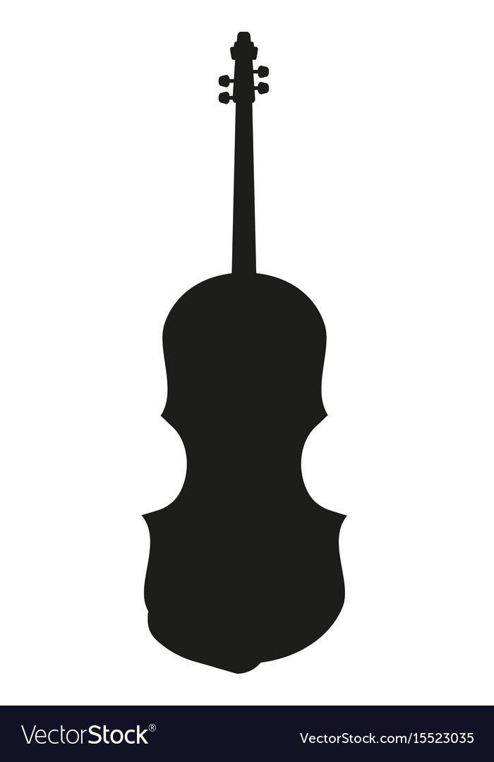 Violin silhouette music instrument
