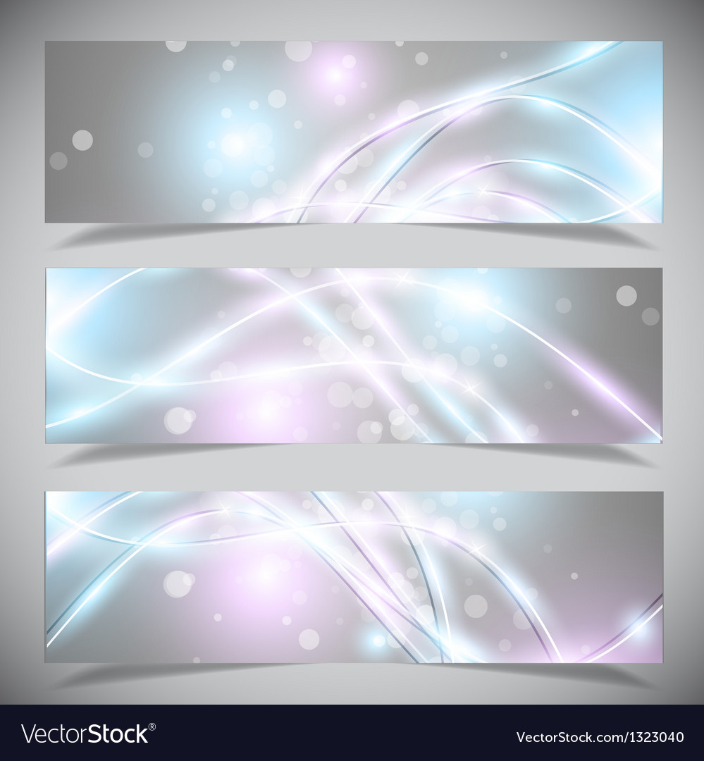 Bright abstract banners collection