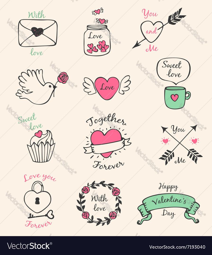 Decorative Valentine elements