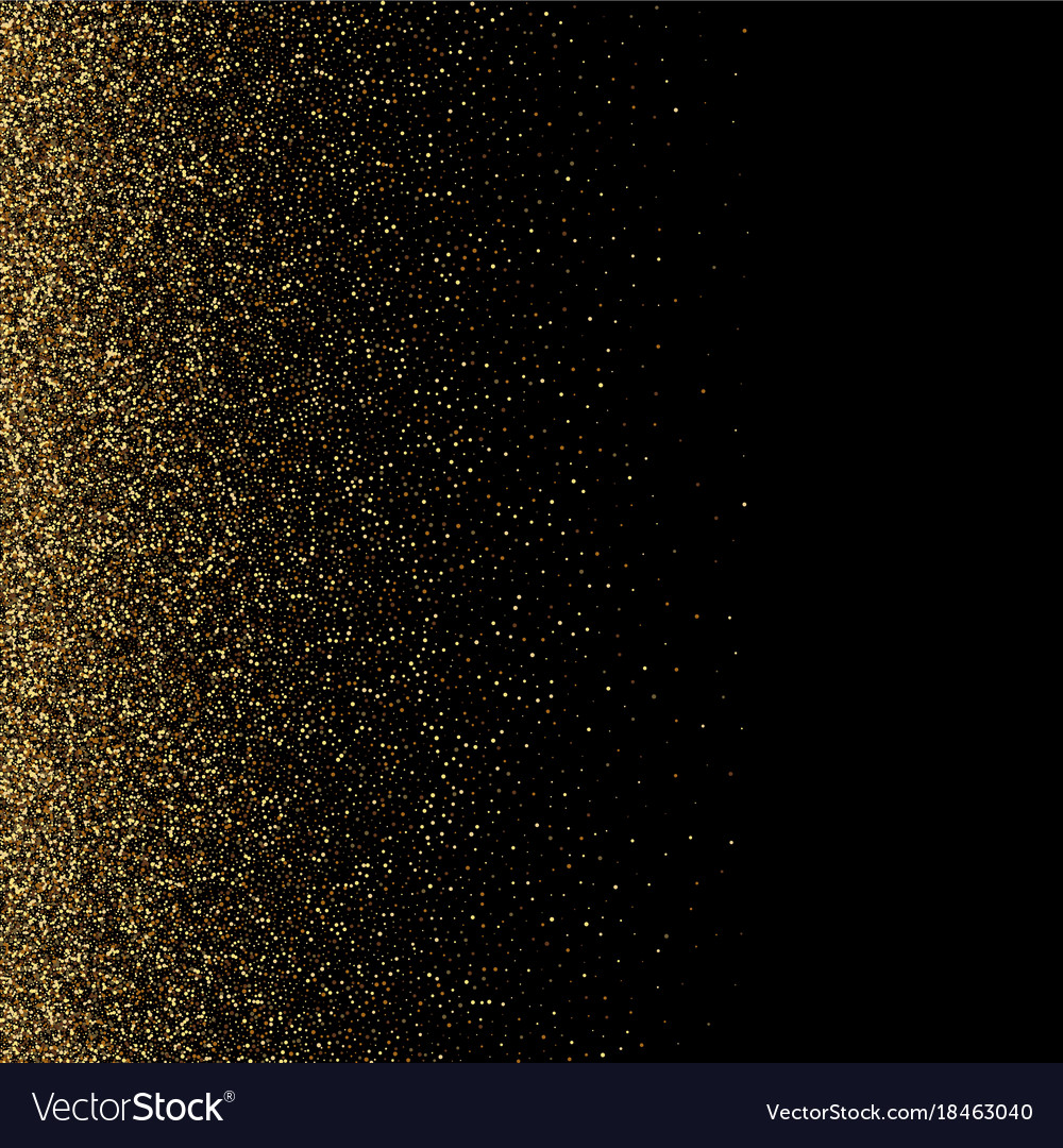 Glitter Gold: Black And Gold Glitter Background