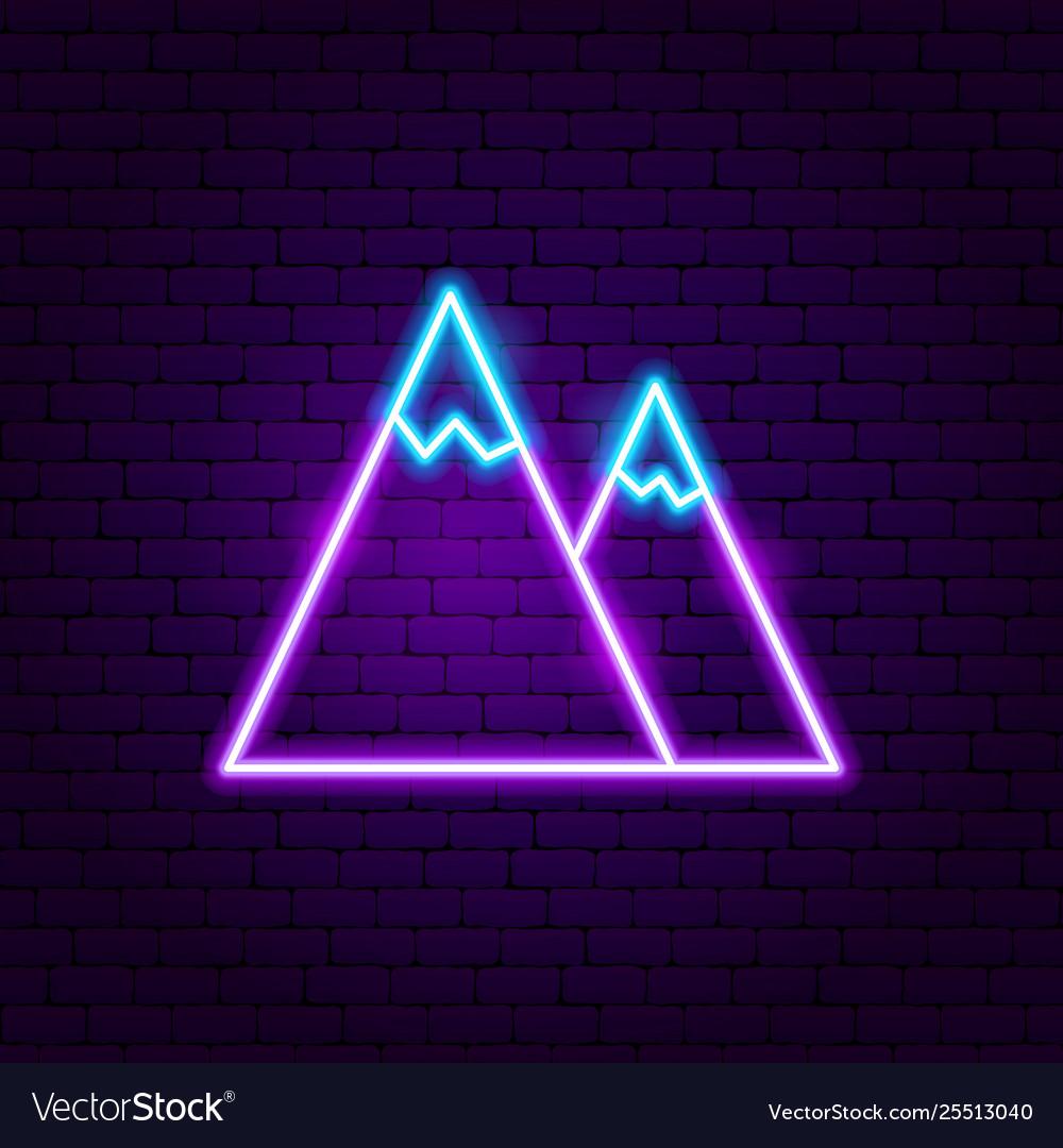 Mountain neon label