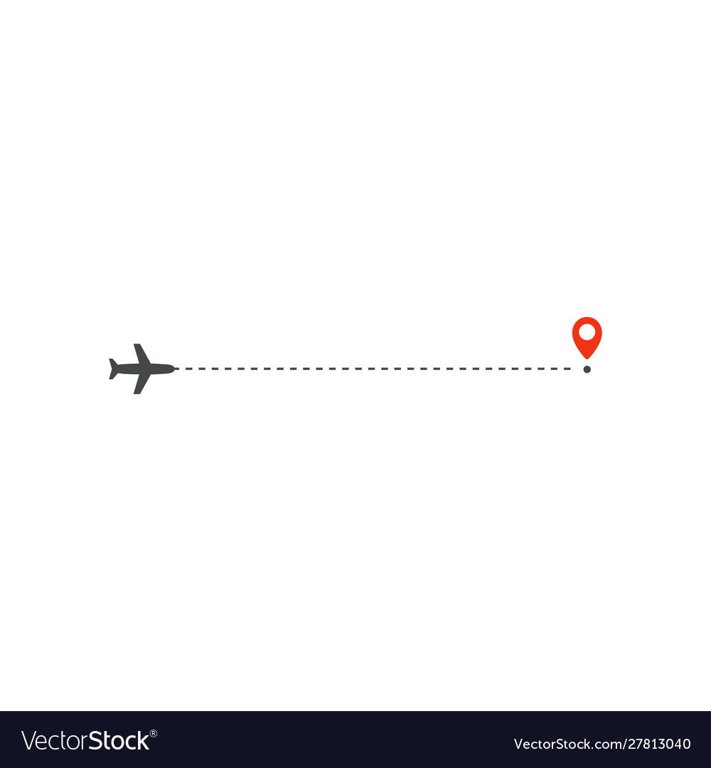 Plane way icon airplane straight ahead path