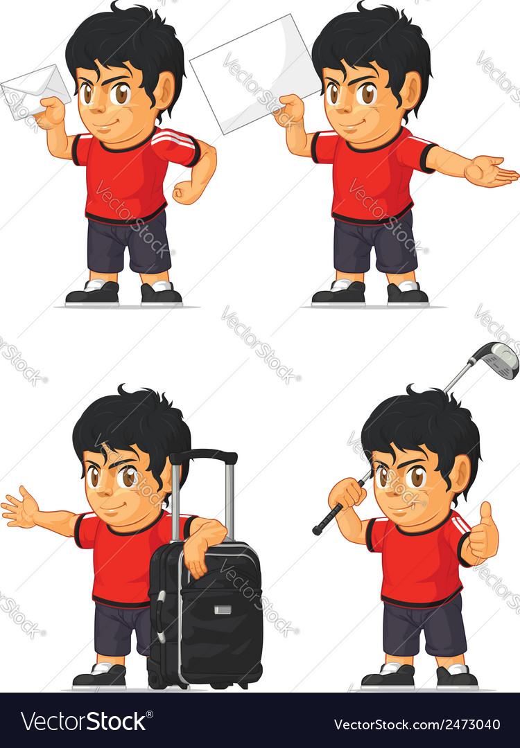 Soccer Boy Customizable Mascot 16 vector image